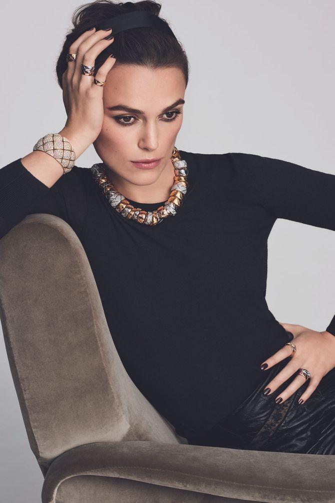 Keira Knightley pose pour la campagne de joaillerie Chanel