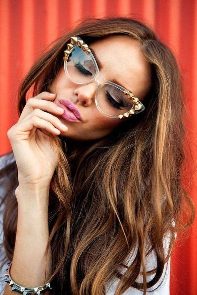 Des lunettes papillon / cateye