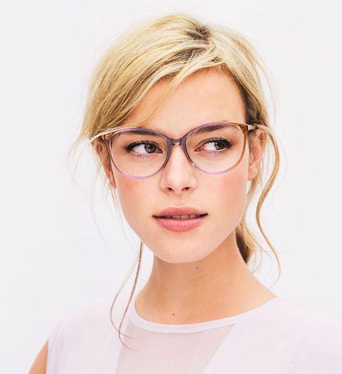Des lunettes avec des angles pour les visages ronds