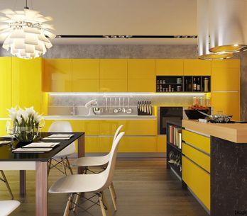 Cocinas amarillas, ¡el optimismo llega a tu casa!