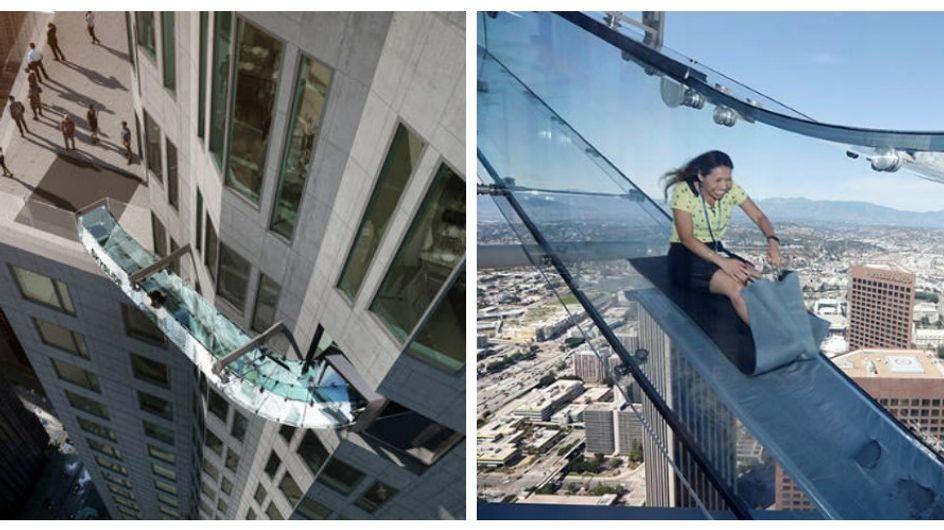 Skyslide: il tuffo nel vuoto dal 70esimo piano.