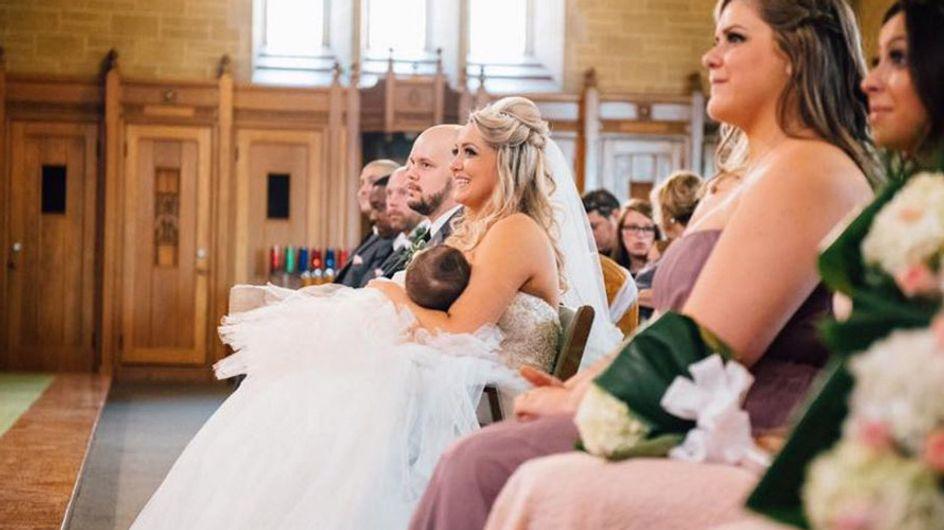 Während der Hochzeit beginnt das Baby der Braut plötzlich zu weinen - also tut diese Mutter DAS