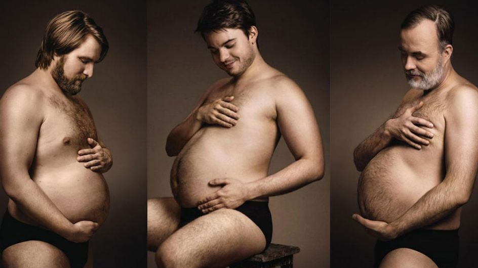 Brewed With Love: Lager-guzzling Men Parody Pregnancy Photoshoots, Cradling Their Beer Bellies