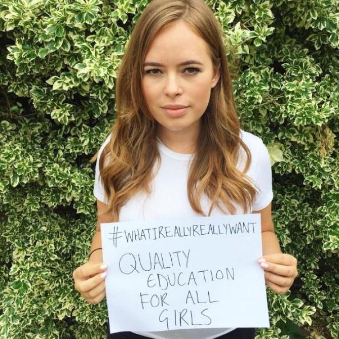 Une jeune femme pour Global Goals