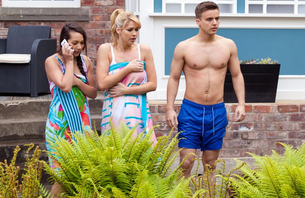 Hollyoaks 12/7 - Cleo, Harry, Holly and Zach hear Peri screaming