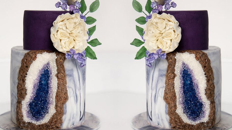 These Geode Gem Stone Cakes Are Literally Too Pretty To Eat