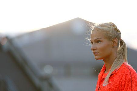 Darya Klishina à l'entraînement