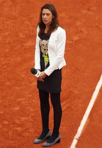 Marion Bartoli lors du tournoi de Roland-Garros, en juin 2016