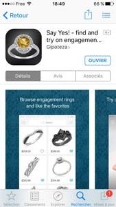 L'application Say Yes! permet via la réalité augmentée d'essayer 200 bagues de fiançailles