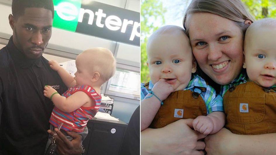 Dieser Angestellte geht über seine Pflicht hinaus, um einer alleinreisenden Mutter zu helfen