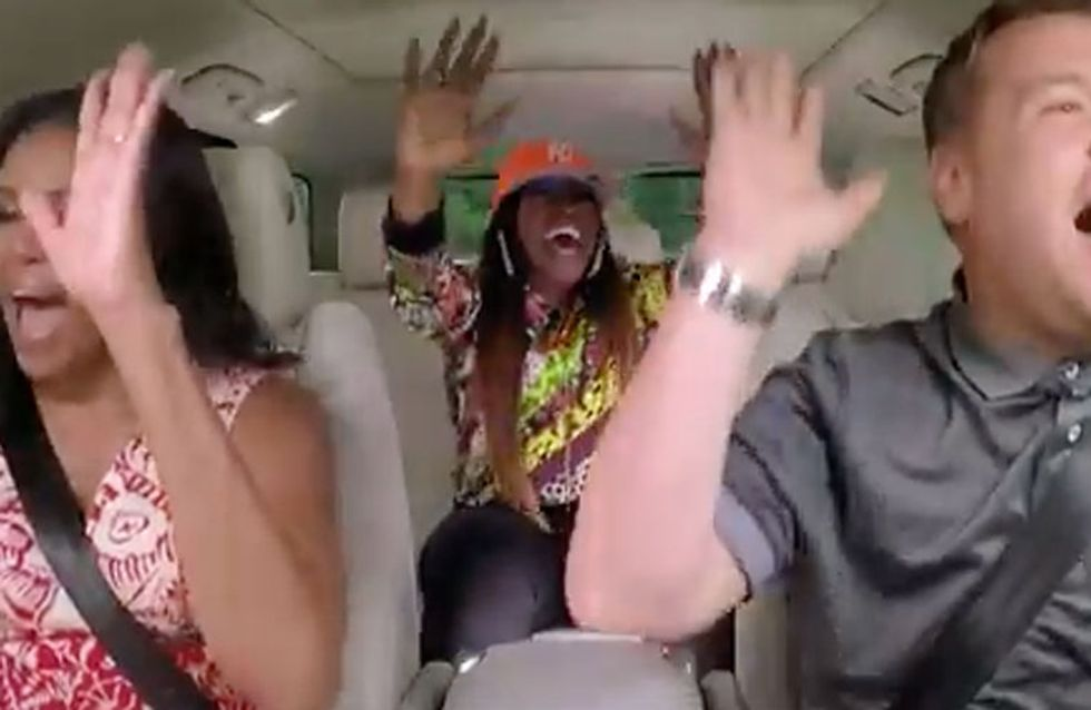 First Lady Michelle Obama Just Made Her Carpool Karaoke Debut And It Was So Freakin' Sassy