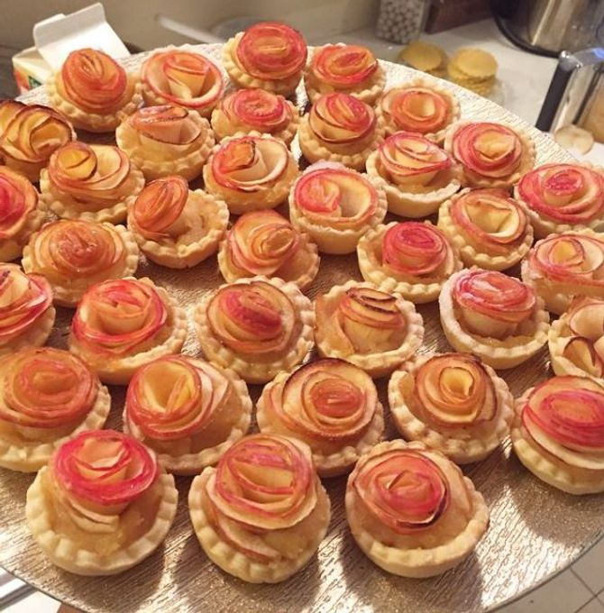 Les tartelettes pomme roses de Rouchette's