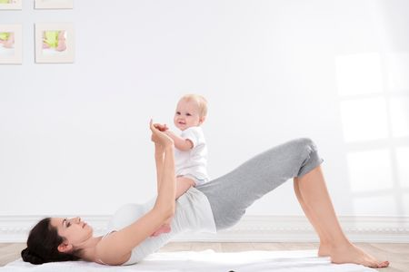 Beckenheben für Po und Bauch