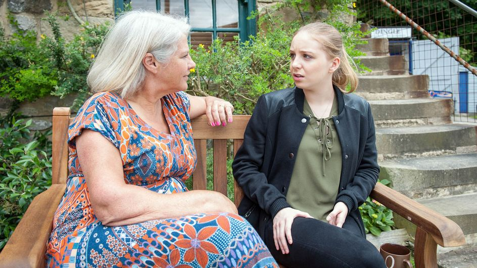 Emmerdale 05/8 - Joanie catches Belle talking to her alter-ego