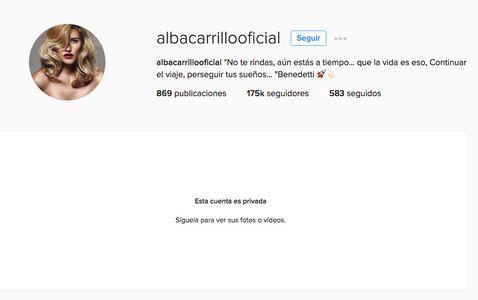 El instagram de Alba Carrillo