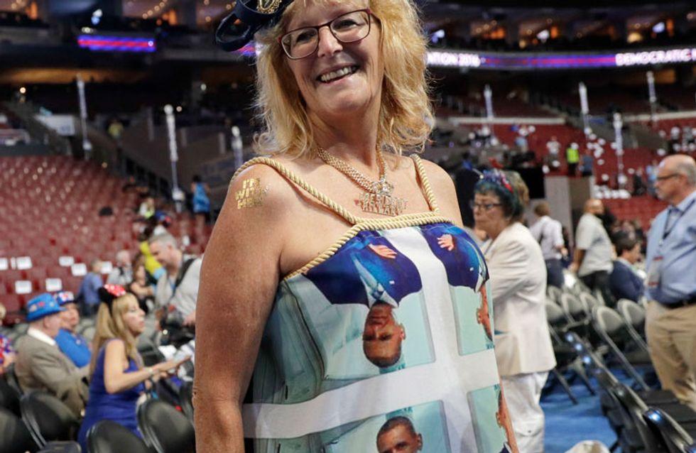 Un vestido pro Obama, peor look de la semana