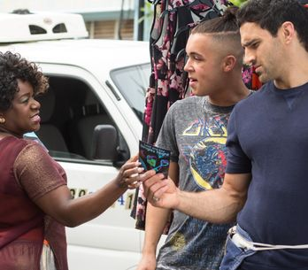 Eastenders 12/8 - Claudette tells Babe to stay away from the Cokers