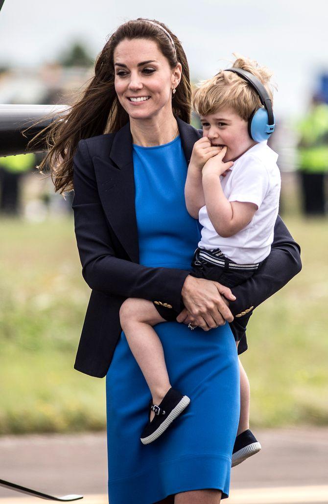 Kate Middleton et son fils George le 8 juillet