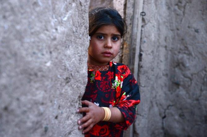 Une fillette afghane