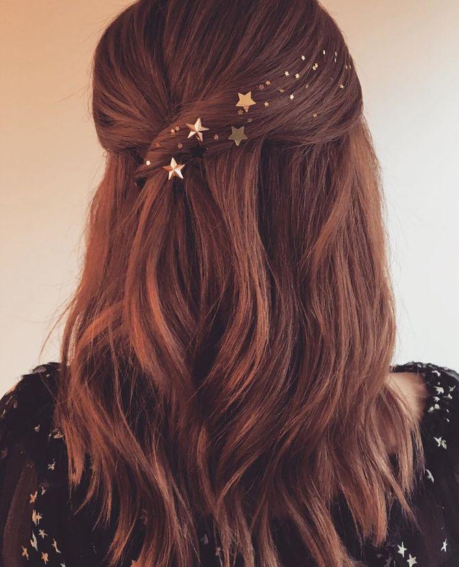 90er Frisuren: Glitzer in den Haare
