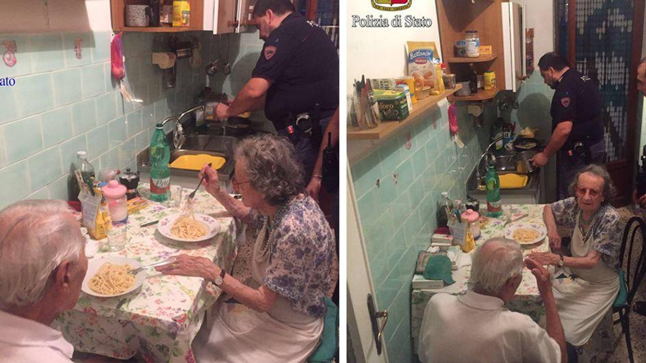 Freund und Helfer: Diese Polizisten gehen für zwei einsame Rentner weit über ihre Pflicht hinaus