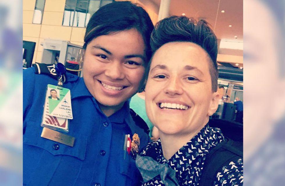 Sie erwartet Verständnislosigkeit am Flughafen - doch diese Sicherheitsbeamtin beweist Toleranz