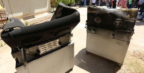 Des couveuses brûlées par l'incendie