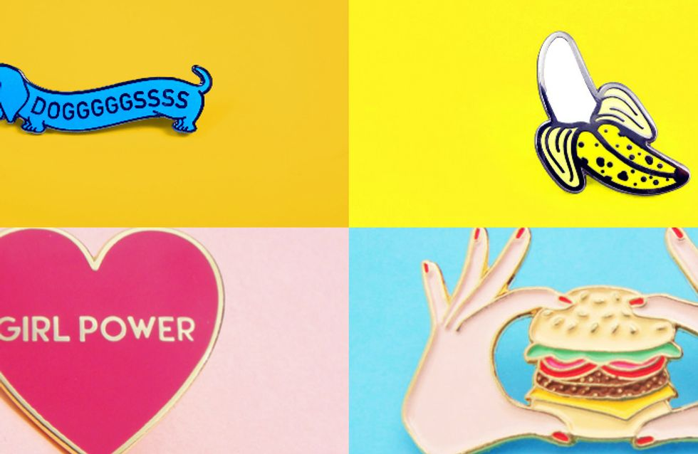 Pin it! Broches para um visual divertido