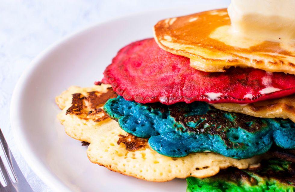 ¿Tortitas de colores para desayunar? ¡Y son 100% naturales!