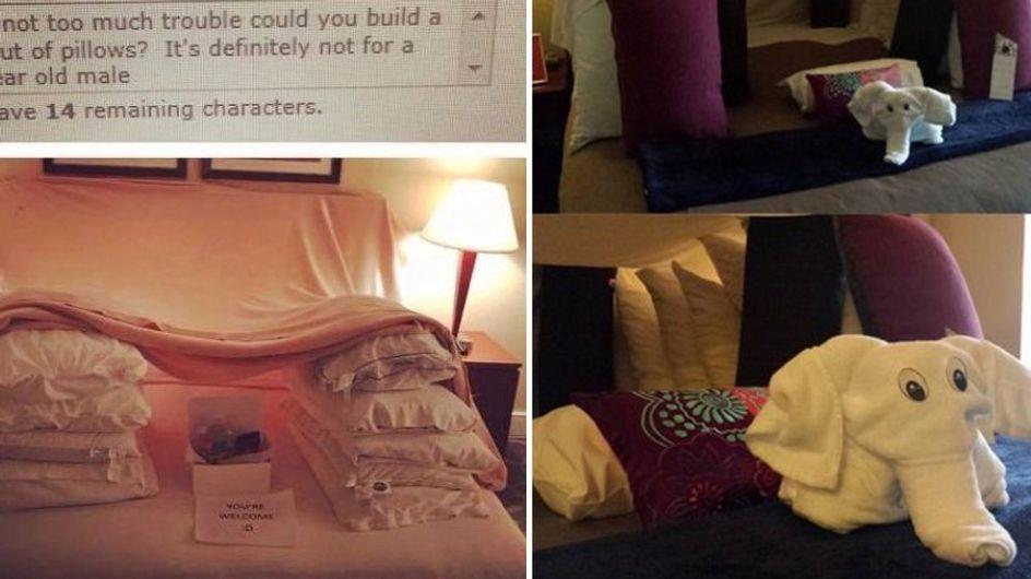 Mann verlangt die absurdesten Leistungen von seinem Hotel und das Personal enttäuscht ihn nicht