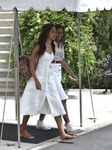 Malia et Sasha Obama le 6 août à Washington