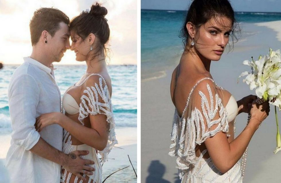 Cet ange Victoria's Secret ose la robe de mariée tout en transparence