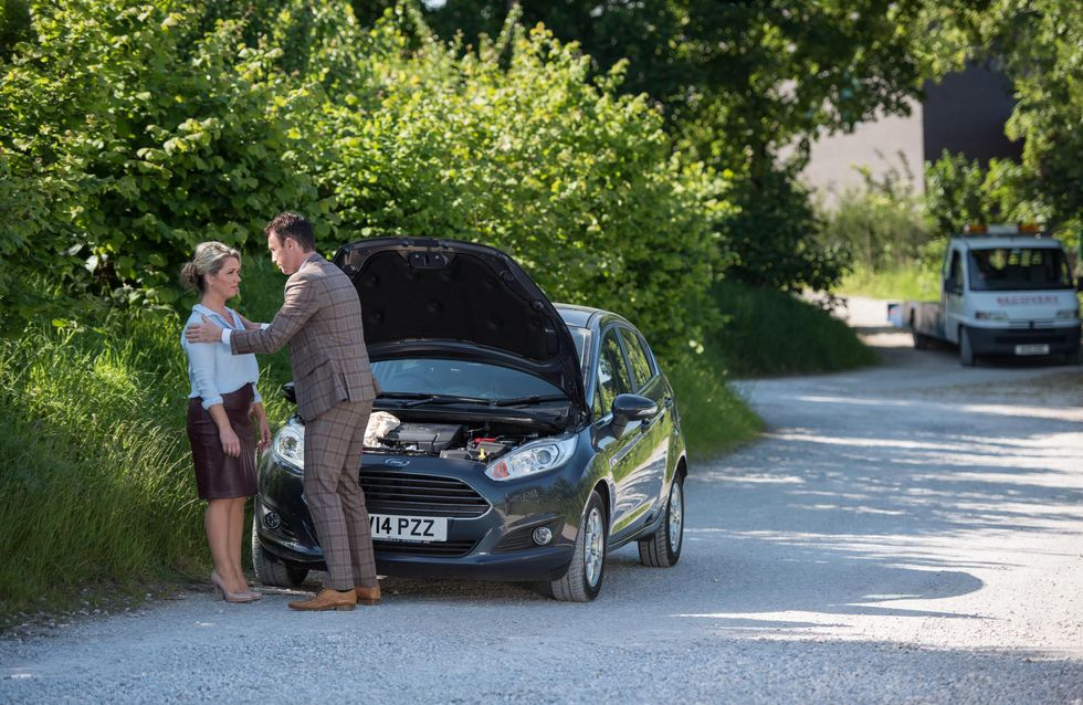 Hollyoaks 25/8 - James And Joanne Fake A Car Breakdown