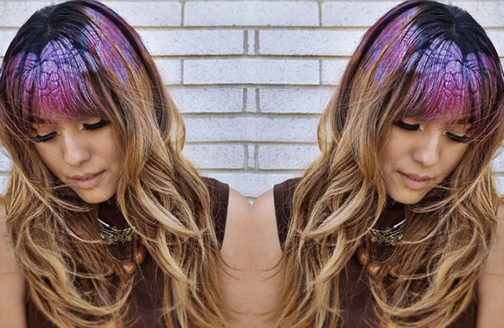 If You Loved Glitter Roots You Need To know About The New Hair Stencils Trend