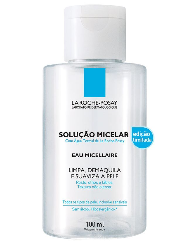 Solução Micelar, La Roche-Posay, R$ 32 (100 ml)