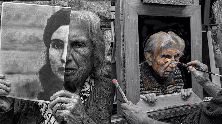 Fotógrafo faz ensaio emocionante com mãe idosa que sofre de demência