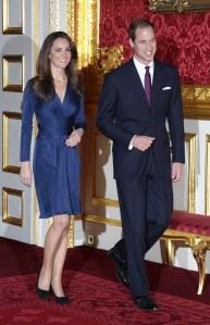 Les fiançailles de Kate Middleton et du prince William en novembre 2010