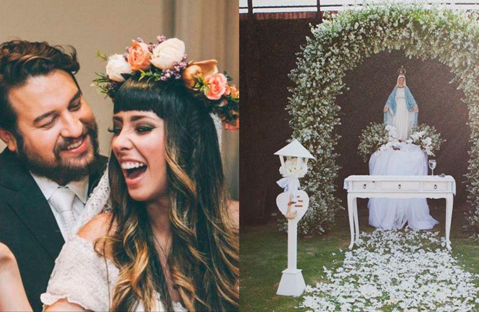 Tire boas ideias do belo casamento boho chique de Debora e Antônio