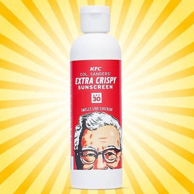 La crème solaire senteur poulet frit de KFC