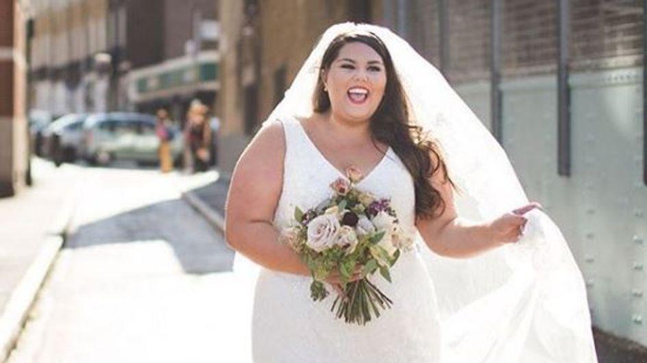 """""""Avant, je pensais qu'il fallait être mince pour se marier"""" : le message percutant d'une blogueuse mode plus size (Photos)"""