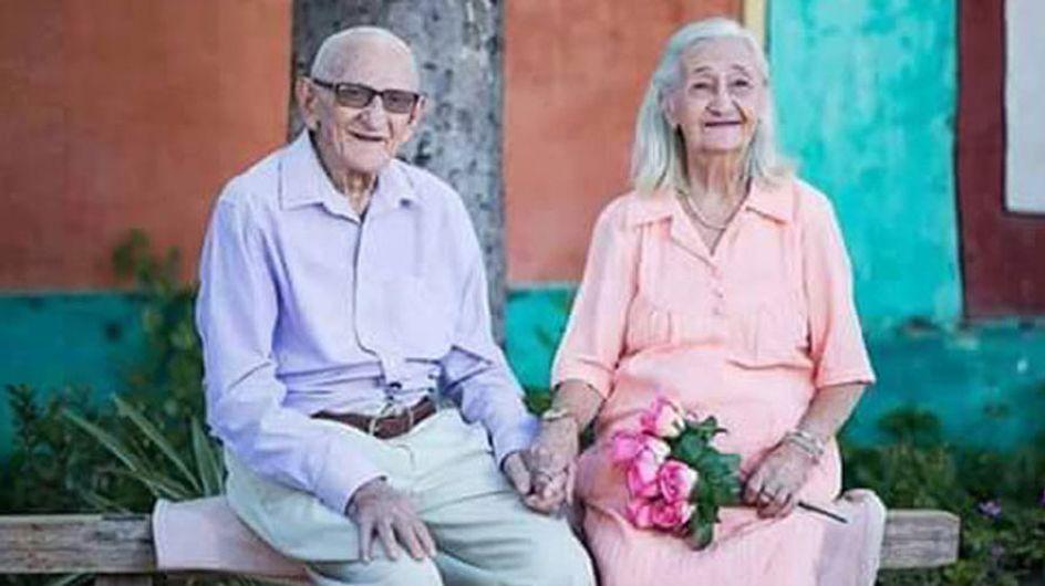 Amor eterno: esta pareja de ancianos celebra 65 años juntos con una adorable sesión de fotos