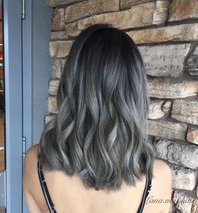 Graue Ombré Hair