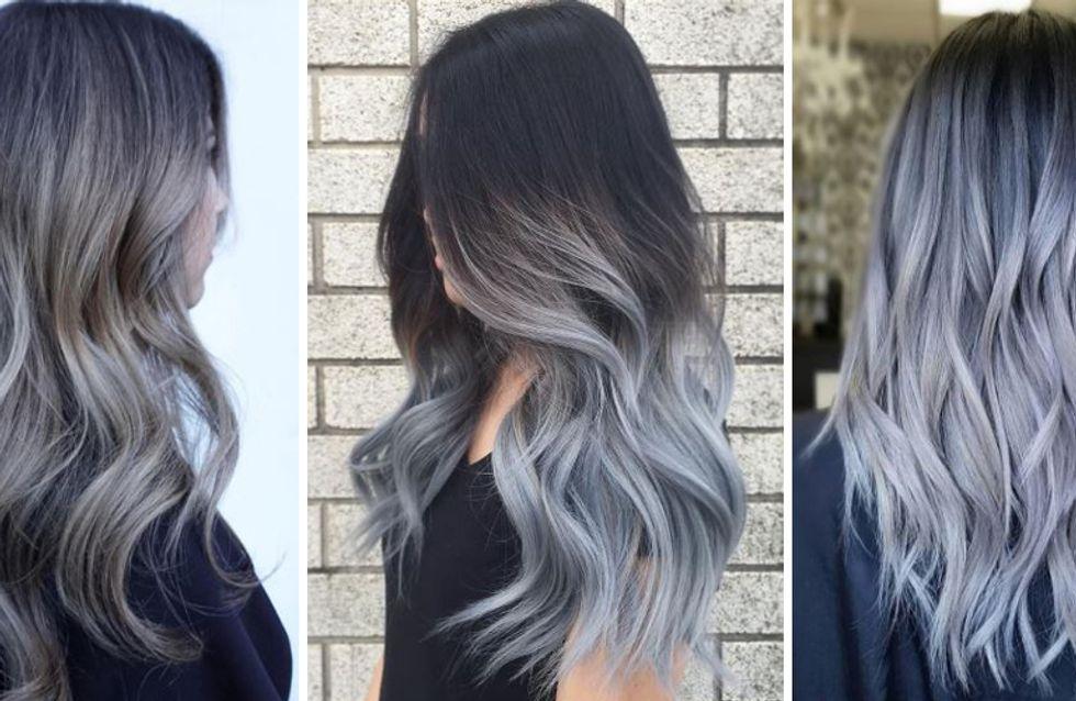 #grannyhair 2.0: Graue Ombré Haare sind jetzt Trend!