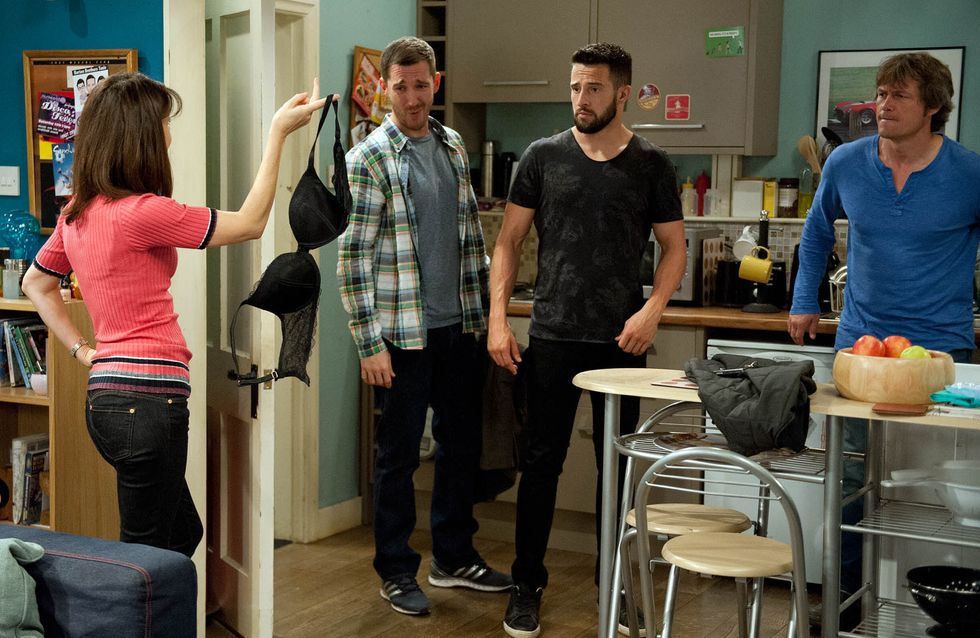 Emmerdale 07/9 - Moira's Lost Bra Causes James To Panic