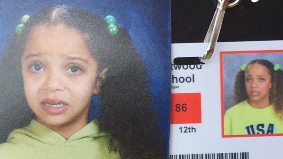 Erstes vs. letztes Schuljahr: Diese 17-Jährige hat ihr witziges Kinderfoto perfekt nachgestellt