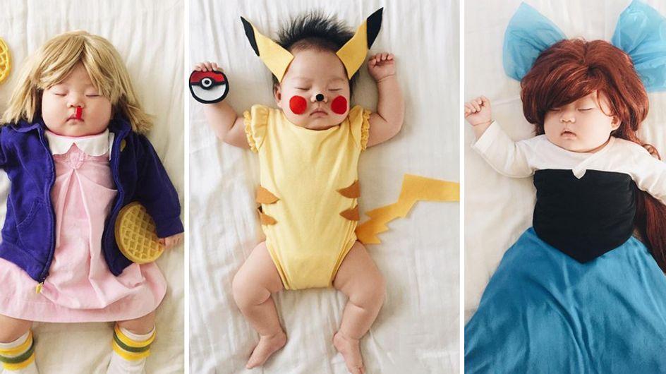 Kreatives Nickerchen: Diese Mutter fotografiert ihr schlafendes Baby in den coolsten Kostümen