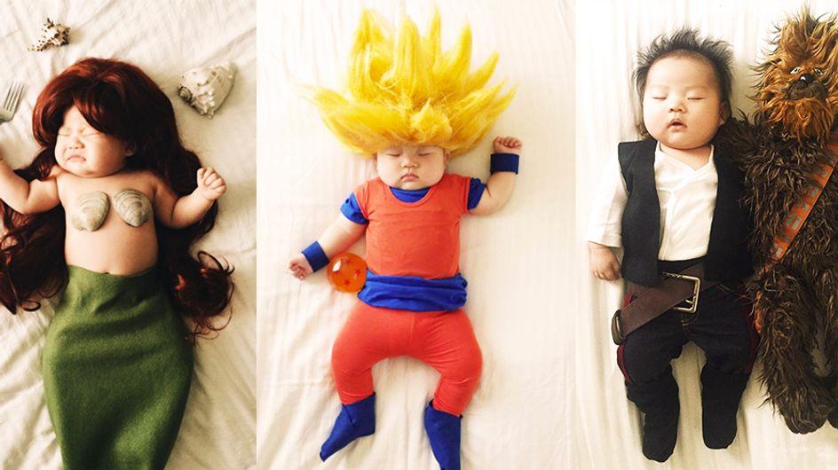 Este bebé no imagina en lo que se transforma mientras duerme