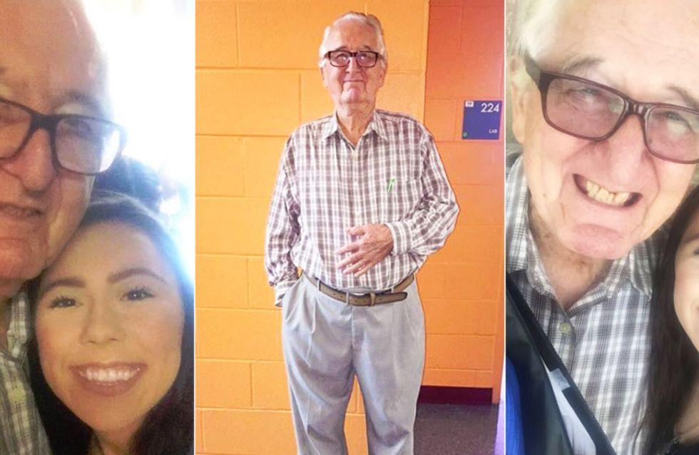 Man ist NIE zu alt: Dieser coole Opa studiert gemeinsam mit seiner Enkelin