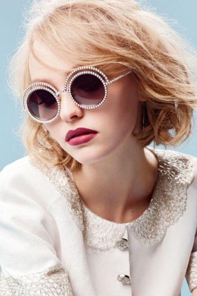 Lily Rose Depp para a Chanel