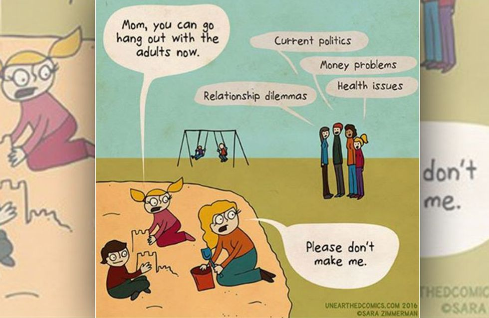 Diese Comics beweisen: Auch Mütter sind manchmal noch Kinder ... und das ist auch gut so